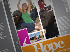 Yo It's Yoga: Hope DVD Cover Design.